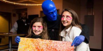 Blue man group is a fun theater event for kids 7 and older.