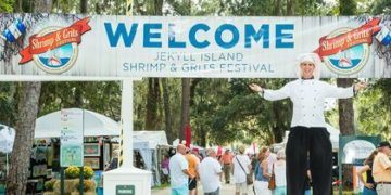 The shrimp and grits festival is fun for kids and adults in coastal georgoa