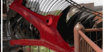 St. Louis's city museum is a top childrens museum because of its whimsical play spaces made from reused materials.