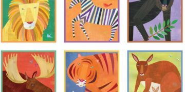 Mud Puppy Puzzle blocks have beautiful, bright pictures of animals and provide several puzzles in 1 set of blocks.