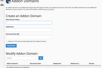 Creating add-on domain in cPanel