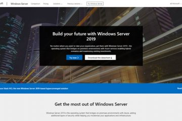 Windows Server website