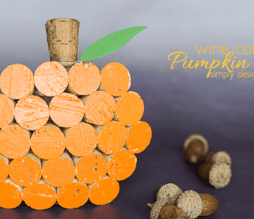 Wine Cork Pumpkin Decor - simple and fun fall craft