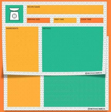 Formica 4x6 Recipe Cards