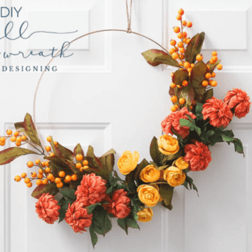 How to make a Fall Hoop Wreath - Simply Designing