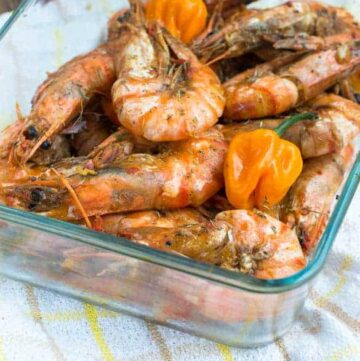 Jamaican hot pepper shrimp