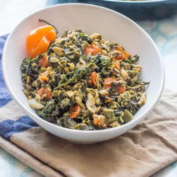 Saltfish and callaloo
