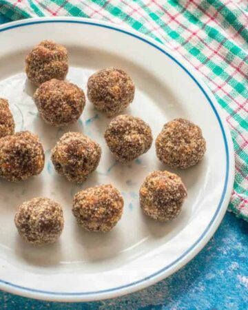 balls on a plate