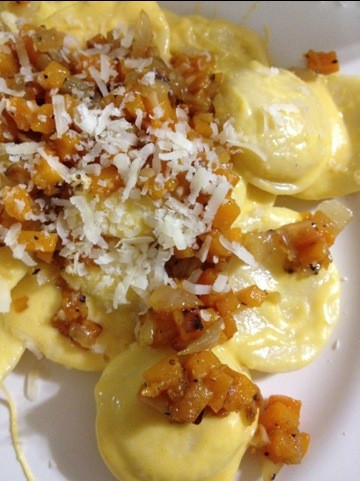 Butternut Squash with Cheese Ravioli (Image)