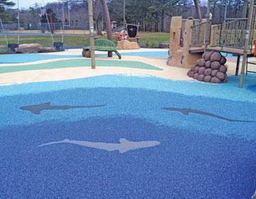 Покрытие детских игровых площадок.