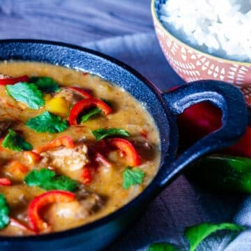 Slow Cooker Thai Red Curry and Rice
