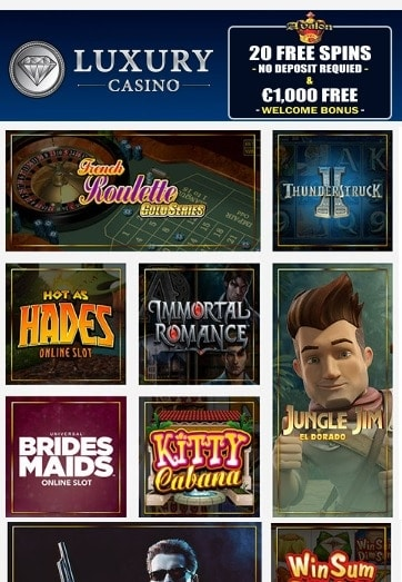 Luxury Casino free spins bonus