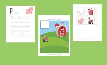 Down on the Farm Free Printable