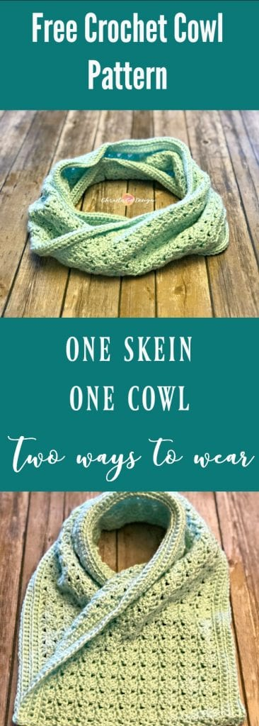 picture of pin image free crochet one skein cowl pattern