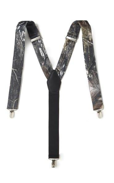 Suspenders Mens Boys Mossy Oak Camouflage