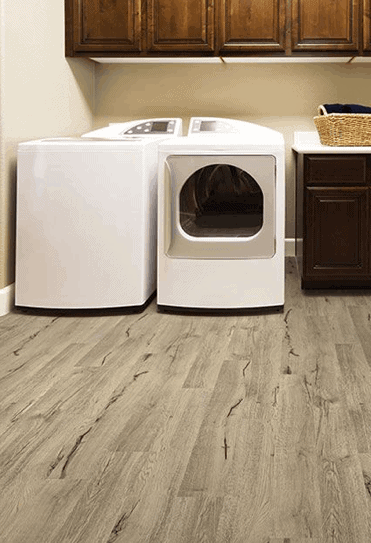vinyl click together flooring laundry room makeover