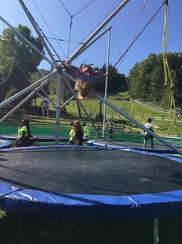 The bungee trampolines at jiminy peak