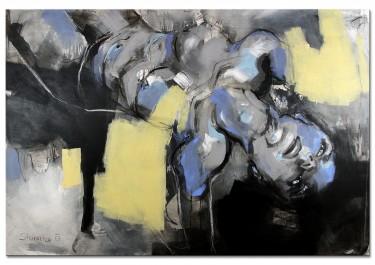 """Zeitgenössisches Gemälde """"Erwartungsvoll"""" von M. Steinacher"""