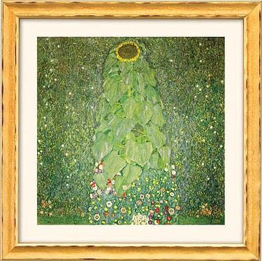 """Gustav Klimt:  """"Die Sonnenblume"""" (Reproduktion auf Bütten)"""