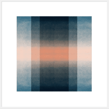 """Blush Pink & Midnight Blue: Color Space"" - Abstrakter Open Edition Print von Jessica Poundstone"