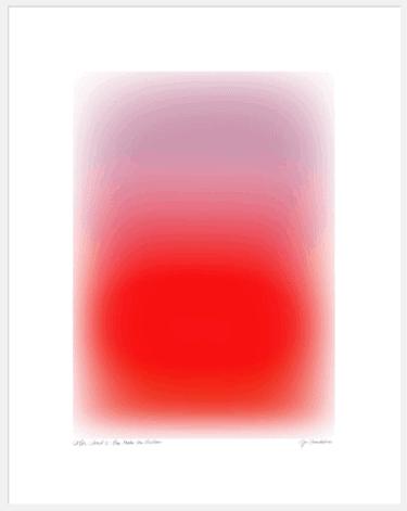 """""""Color Cloud 11: You Make The Weather"""" - Abstrakte Kunst von Jessica Poundstone als Kunstdruck"""