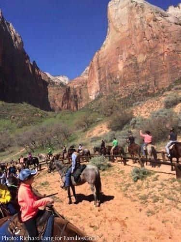 Horseback riding in zion park