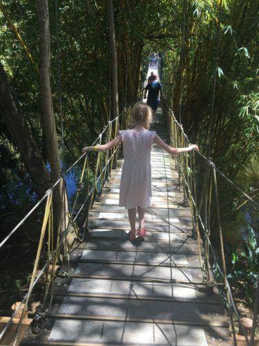 The hanging bridge at gumbalimba