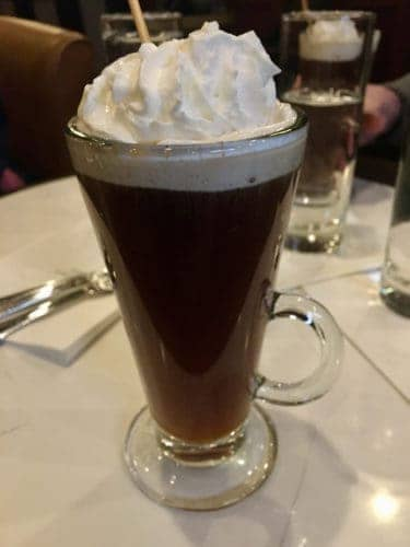 Irish coffee in parker's bar at the parker house hotel