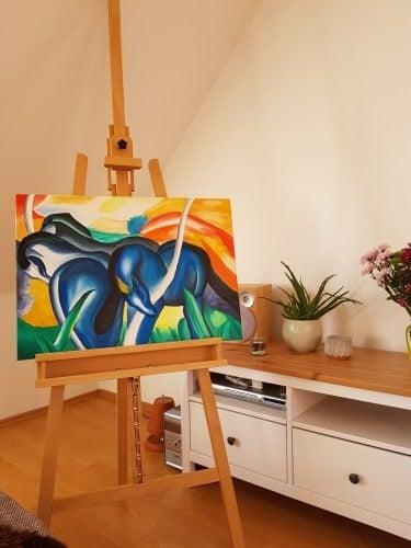 Blaue Pferde- Neuinterpretation