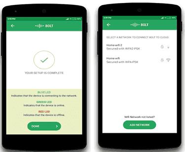 Bolt IoT Platform- Bolt Smart Device Applications