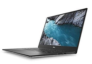 A Left side view of the black coloured Dell XPS 9570