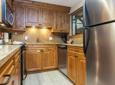 Fully stocked kitchen perfect for dining in