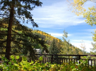 Beautiful autumn mountain views just outside your balcony