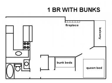 one bedroom bunks
