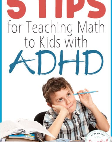 Children with ADHD can be a bit more difficult to teach, especially in math. Staying focused long enough to learn long division can be hard for anyone, but especially a child with ADHD. We have found a curriculum that not only make life a little easier, but has helped all my children excel. #math #mathcurriculum #curriculumreview #hsgiveaways
