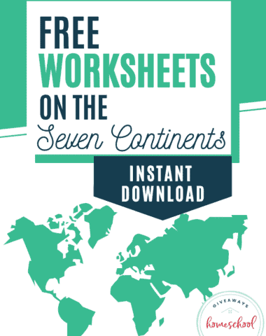 FREE Worksheets on the 7 Continents with Instant Download #7continents #geographystudy #homecshool