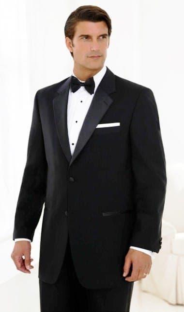Black Tuxedo Two Button Notch Coat