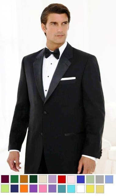 Tuxedo Package Separates Complete with Any color Vest and Bow Tie or Tie