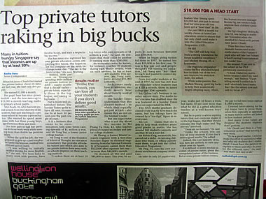 Sunday Times Million-Dollar Tutors Article