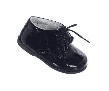 New Infant Patent Letaher Tuxedo Shoes Shinny