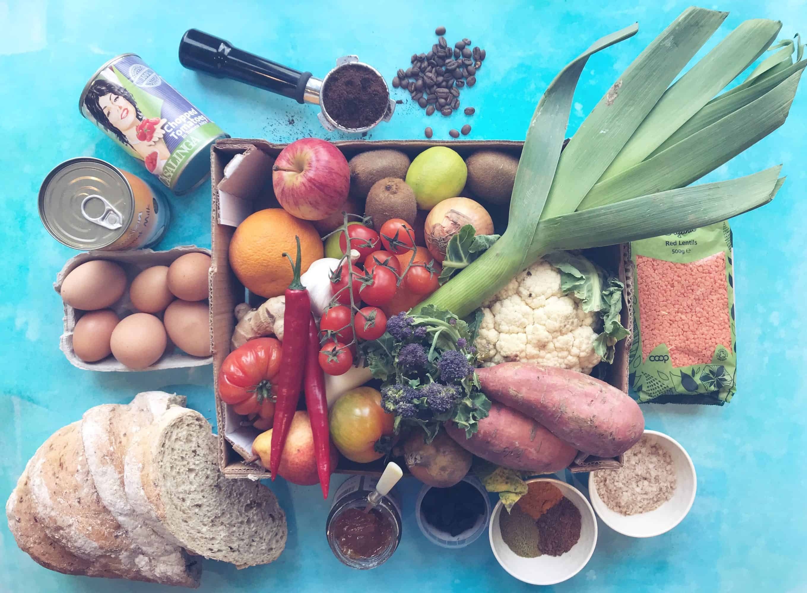 Shopping bought from Farmdrop - the UK's first ethical grocer