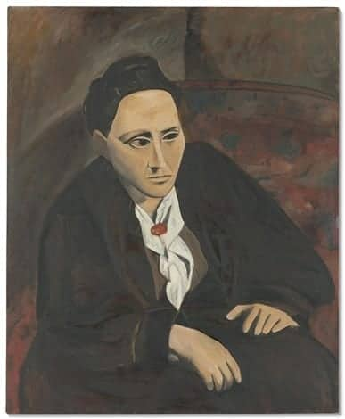 appropriation art. (Not) Picasso's Portrait of Gertrude Stein (1906-06) by Mike Bidlo.