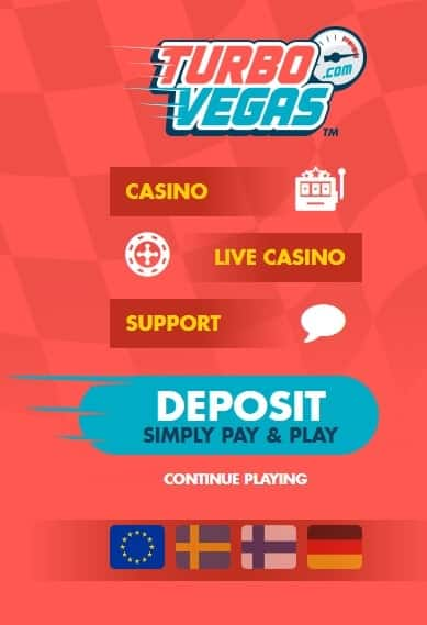 Turbo Vegas Casino - Pay N Play - No Account Required!