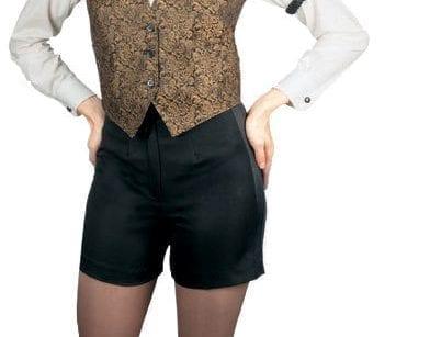 Women's Tuxedo Shorts No Pockets with Satin Side Stripe