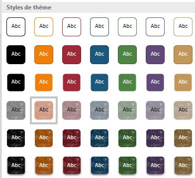 Styles de thème de Word