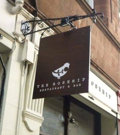 The rosehip is a family friendly restaurant with good food on rose street.