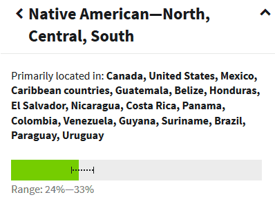 partial native american ancestry