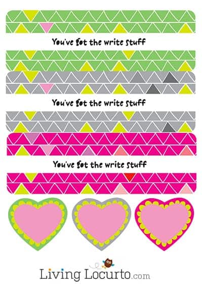 Adorable Free Printable Pencil Holder for Classroom Valentine's Day Cards. The Write Stuff LivingLocurto.com