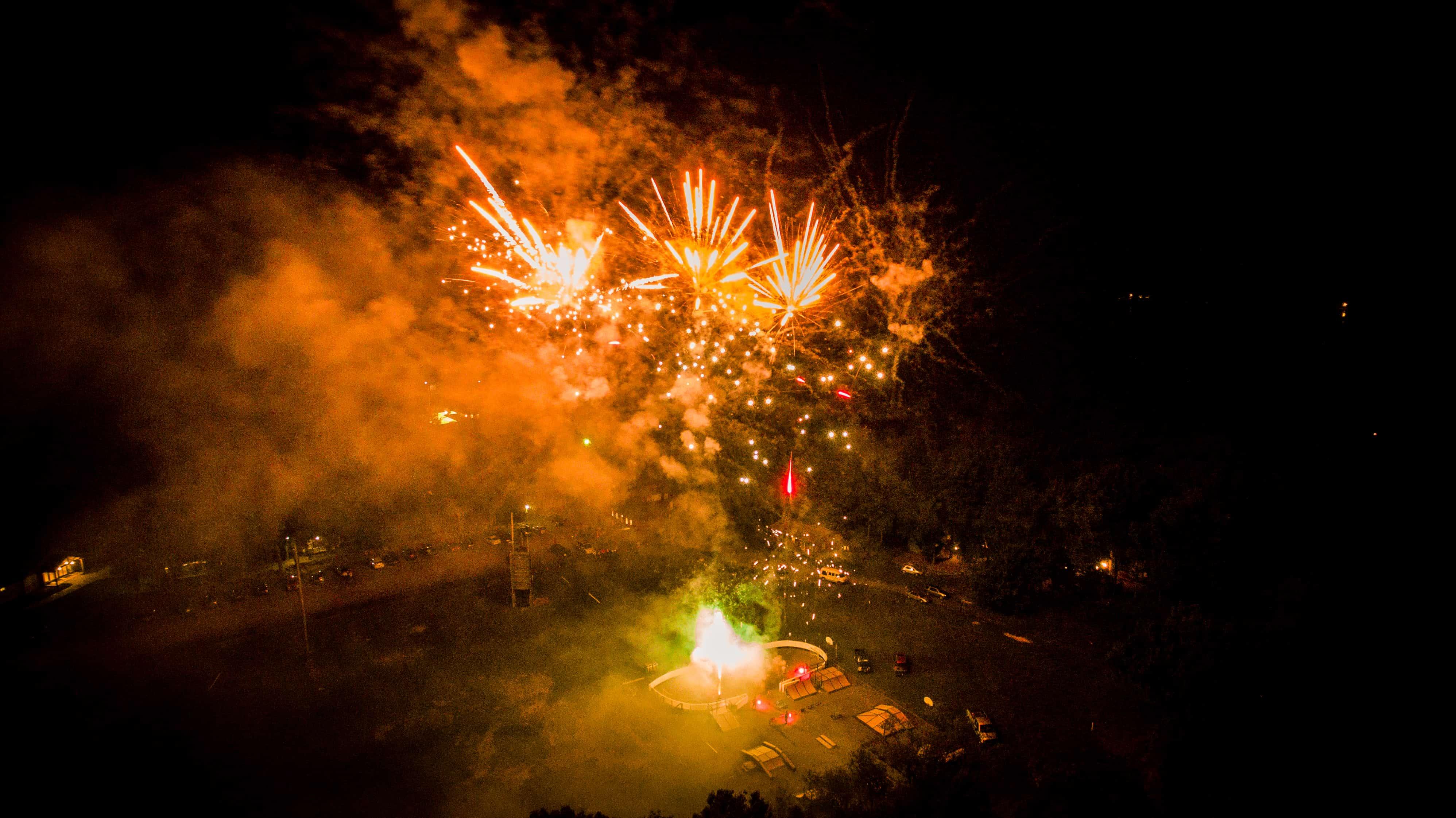 Family Camp Fireworks