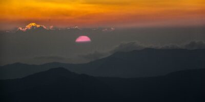 This photo represent - Sunset view from Tungnath during Summer.